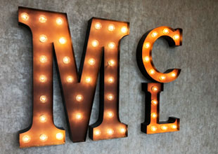 Lighted Marquee Letters from Mario Contract Lighting