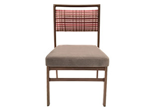 Shelby Williams Tufgrain Faux Woodgrain Dining Chairs