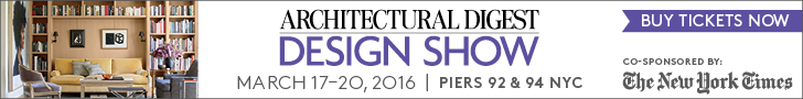 Architectural Digest Design Show: March 17-20. Buy Tickets Now