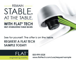 FLAT: Remain Stable at the Table. Request a Flat Tech sample!