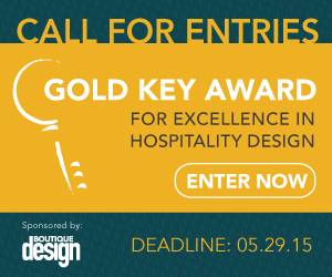 Call for Entries: Gold Key Award for Excellence in Hospitality Design