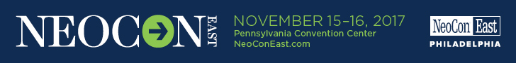 NEOCON East. November 15-16, 2017, Pennsylvania Convention Center Philadelphia. Register Now.