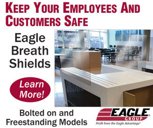 Eagle Breath Shields. Keep your employees and customers safe. Bolted on and freestanding models. Learn more!