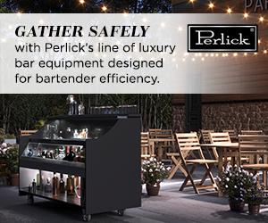 Gather safely with Perlick's line of luxury bar equipment designed for bartender efficiency. Find out more.