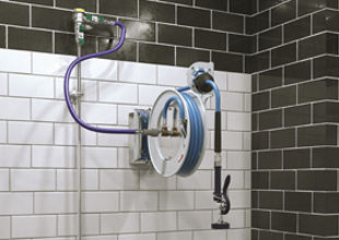 Easy cleaning with T&S hose reel systems