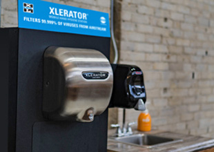 Mobile XLERATOR Hand Hygiene Station by Excel Dryer