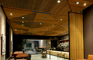 Make a great impression with WoodWorks Grille by Armstrong Ceilings.
