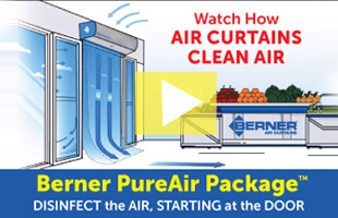 Berner PureAir Package. Disinfect the air, starting at the door.