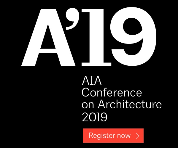 A'19. AIA Conference on Architecture 2019. Register Now.