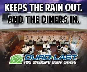 Duro Last-The World's Bbest Roof. Keeps the rain out and the diners in. Find out more.