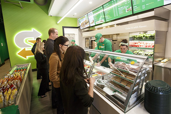 Subway redesigned counter