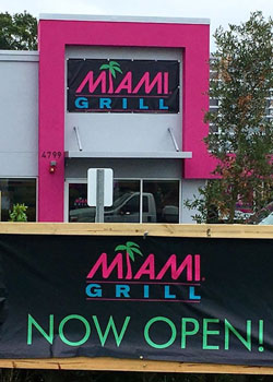 Miami Grill's Kissimmee, Florida, flagship location.
