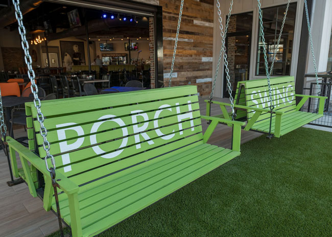 Rd D Porch Swing Offers Southern Comfort In A Polished