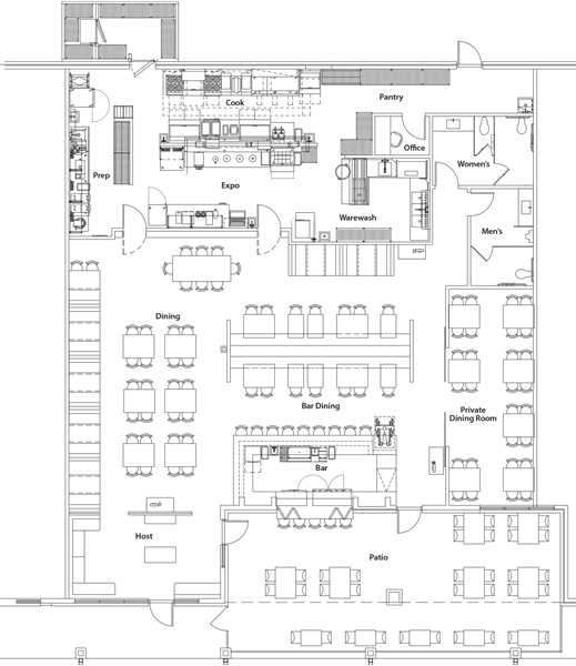 Another Broken Egg Cafe floor plan
