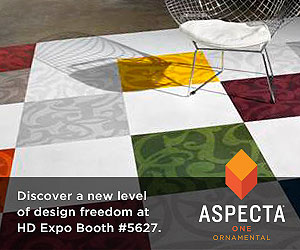 ASPECTA One Ornamental Flooring. Discover a new level of design freedom at HD Expo Booth number 5627.