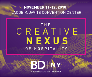 BDNY: The Creative Nexus of Hospitality. November 11-12, 2018. Jacob K. Javits Convention Center, New York City.