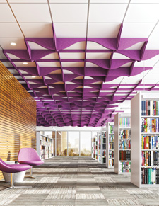 TURF's Switchblade Magnetic Acoustic Ceiling System