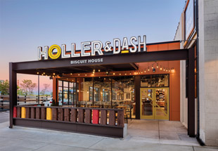 During development of the Holler & Dash fast-casual concept, extensive front-end research on Millennial demographics, dining habits and brand preferences drove decisions on everything from the style of buildings selected to menu, technology and interior design. Photo by Mark Steele