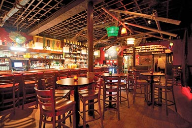 Porco Lounge & Tiki Room features decor scavenged from the Cleveland unit of the famed Kon-Tiki restaurant chain, which closed in 1976. Image courtesy of Sam Twarek